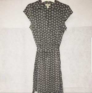 LOFT Tie Waist Flare Dress